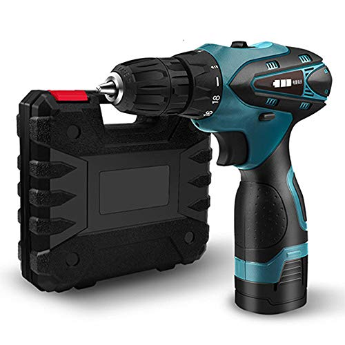 EastMetal Power Drill, 16.8V Cordless Drill, Electric Screwdriver Set, 2 Speed Gearbox, Battery and Charger Included, LED Light, 18+1 Keyless Clutch, Carry Box, for DIY Project,A