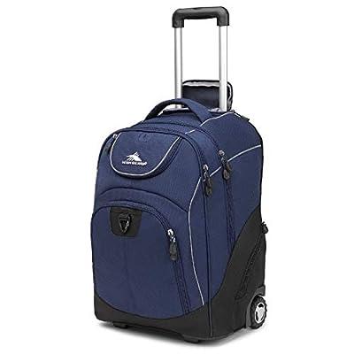 High Sierra Powerglide Wheeled Backpack, True Navy/Black, One Size
