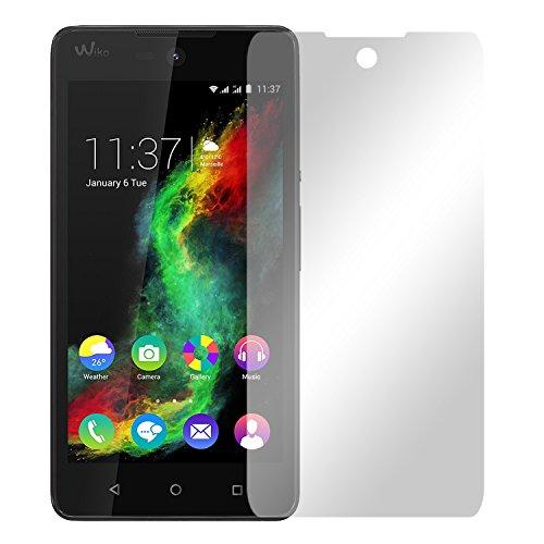 Slabo 4 x Bildschirmschutzfolie für Wiko Rainbow Lite Selfie Bildschirmfolie Schutzfolie Folie Zubehör Crystal Clear KLAR