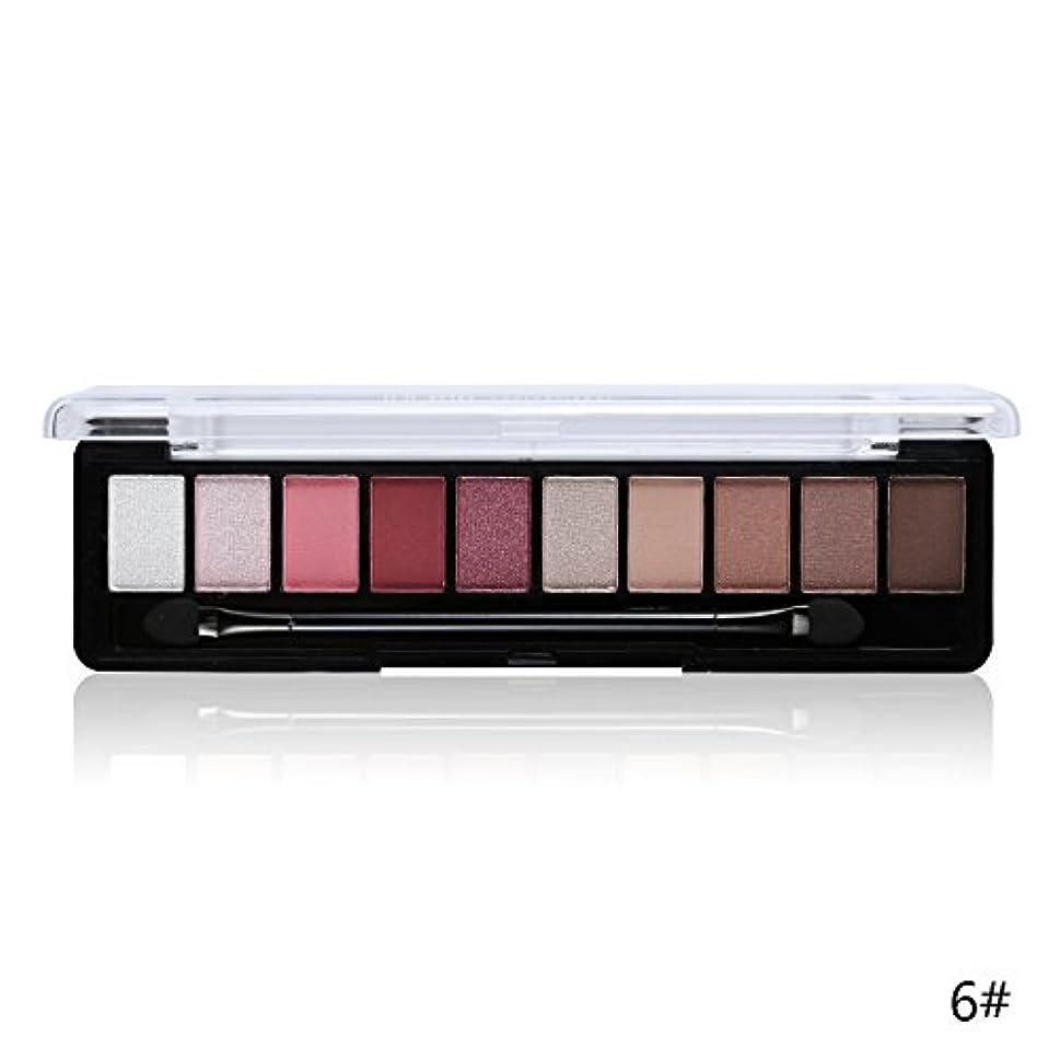 感謝ピットレザー(6#) Professional Makeup Brand Earth Color 10 Colors Eyeshadow Palette Glitter Eye Palette Maquiagem Matte Silky Pigments