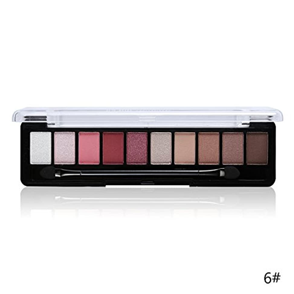 軍隊節約する確立(6#) Professional Makeup Brand Earth Color 10 Colors Eyeshadow Palette Glitter Eye Palette Maquiagem Matte Silky Pigments