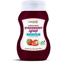 Sirope de Fresa de HSN Foods - Sin Grasa, Sin Azúcar, Edulcorado con Estevia, Apto Vegetarianos - 350ml