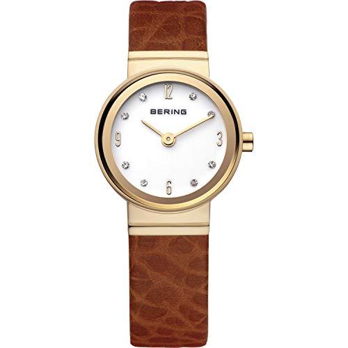 Bering 10122-534 - Reloj para Mujeres, Correa de Cuero Color marrón