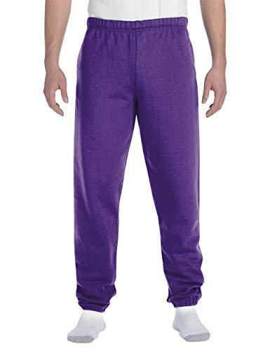 Hat and Beyond Mens Lightweight Sweatpants Elastic Pockets Jogger Pants (Large, 1ih02_Purple)
