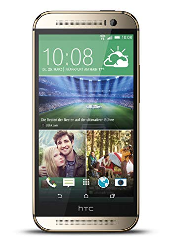 HTC One M8 Smartphone (5 Zoll (12,7 cm) Touch-Display, 16 GB Speicher, Android 4.4.2) gold (Generalüberholt)