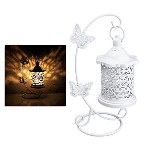 Wakauto Kerzenhalter Hängende Kerzenhalter Vintage-Kerzenlaterne im Vogelkäfig-Stil Wiederverwendbarer Kerzenständer Schmiedeeiserner Schmuckleuchter für Gartenhofhaus
