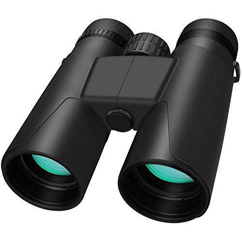 DCLINA Binoculares 10X42, Telescopio visión Nocturna con Poca luz HD Mano para Exteriores, Impermeable, Mini portátil, Adecuado para observación Aves, Senderismo, Camping, Caza