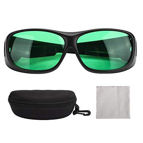 Zwindy Gafas de luz LED para Cultivo, Gafas de Cultivo LED para Interiores con polarización UV para Tienda de campaña, Invernadero, Planta hidropónica, protección Ocular, Gafas de Cultivo