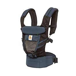 Ergobaby Baby Carrier for Newborn to Toddler, Cool Air Raven Adapt 3-Position Ergonomic Child Carrier Backpack