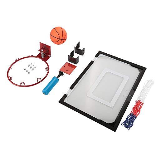 LIUTT Tablero Trasero de Baloncesto, Mini Sistema de Baloncesto Interior Kit de aro de Tablero Trasero Juego de Juguetes para niños montado en la Pared