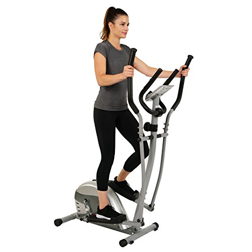 EFITMENT Magnetic Elliptical Machine Trainer w/LCD Monitor and Pulse Rate Grips (Stride: 11 Inch)