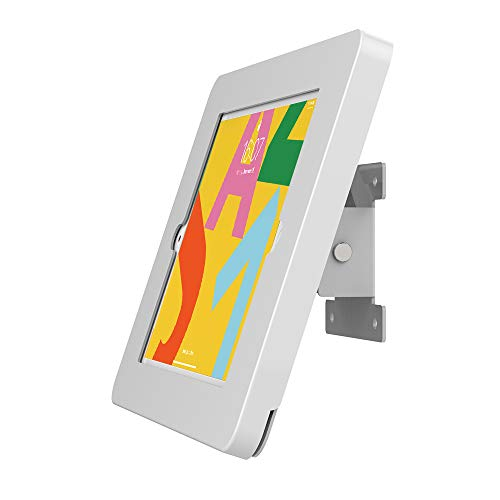 Beelta Tablet Wall Mount for 10.2 inch iPad 7th/8th Genetation, Key Lock Security, Metal, White, BSW101T