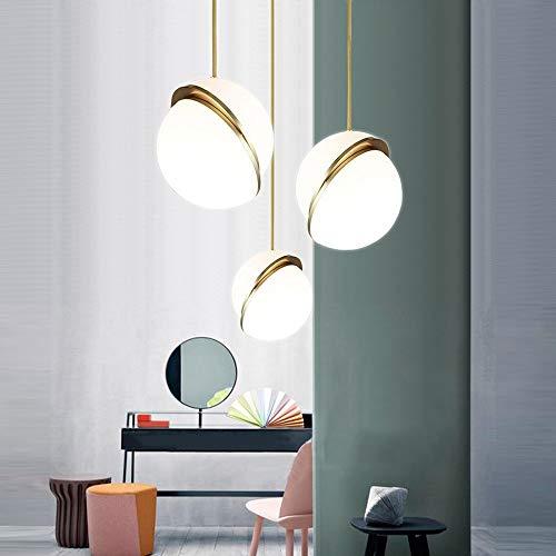 Ledbol, verliesvrij, kandelaar goudkleurig, warmgeel, 3 lampen, eetkamer, woonkamer, studio, slaapkamer, modern, minimalistisch, plafondlamp, ijzer acryl