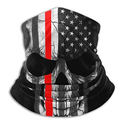 Shuqqur Firefighter Sticker Thin Red Line Skull Face Decoration Windproof Bandana Headwear Neck Gaiter