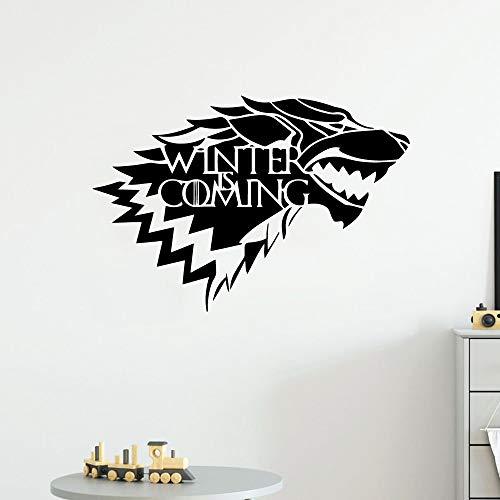 Tianpengyuanshuai Kreativer Winter kommt Wandaufkleber Kunsttapete Kinderzimmerdekoration Hauptdekoration 28X41cm
