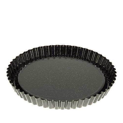 Riess, 0868-022, Obsttortenboden 30, CLASSIC - BACKFORMEN, Durchmesser 30 cm, Höhe 3,7 cm, Emaille, schwarz , Flanform