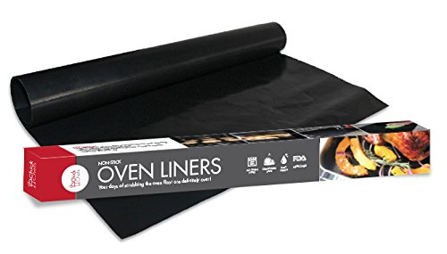 ChickChefs Oven Liners, Pack of 2 Large Reusable 100% Non-Stick Teflon Mats to Protect Your Oven Floor, Suitable for All Oven Types