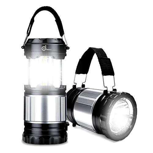 Odoland COB 4 Packs/2 Packs LED Lanterns, 300 Lumen LED Camping Lantern Handheld Flashlights, Camping Gear Equipment for Outdoor Hiking, Camping Supplies, Emergencies, Hurricanes, Outages