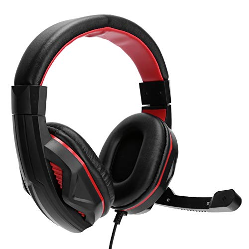 Pusokei Gaming Headset- 6.6ft Wired Over the Ear Headphones Stereo with Microphone, Headphones with Mic for Professional Games, 3.5mm Jack
