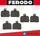 KIT PASTIGLIE PASTICCHE FRENO FERODO PIAGGIO X9 180 - X9 200 - X9 250 FINO AL 2003 - X9 500 FINO AL 2002 FDB2074
