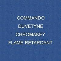 Chroma KeyブルーCommando / Duvetyne難燃性
