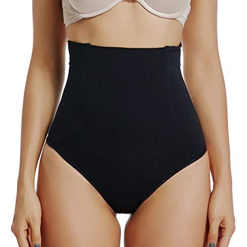 WOWENY Contenitiva a Vita Alta Mutande Contenitive Pantaloncini Thong Shapewear Dimagrante Intimo Modellante Guaina Intimo da Donna