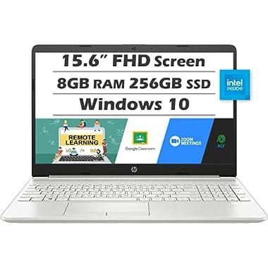 "HP 15.6"" Full HD Laptop (Latest Model), Intel Core i3-1115G4 (Beats i5-8265U), 8GB DDR4 RAM, 256GB PCIe SSD, Fingerprint…"
