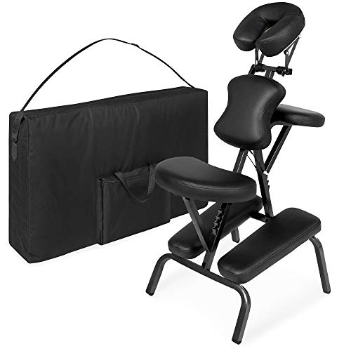 Best Choice Products Folding Portable Light Weight Massage Therapy Chair w/Carrying Bag Case - Black