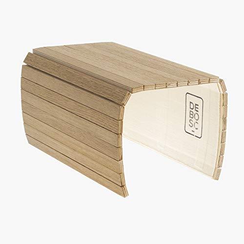 Tablett, das dem Arm Ihres Sofas, Sessel oder den meisten instabilen Oberflächen anpasst, Eiche-Finish, Ideal für ein Geschenk