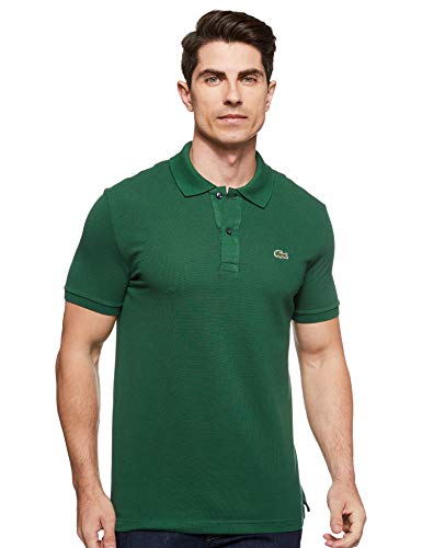 Lacoste Men's Classic Pique Slim Fit Short Sleeve Polo Shirt, Appalachan Green, L