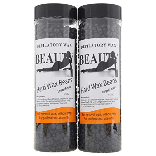 Bonjanvye Hair Removal for Men Hard Wax Strip Free Hard Wax Beans 800g Violet And Lavender
