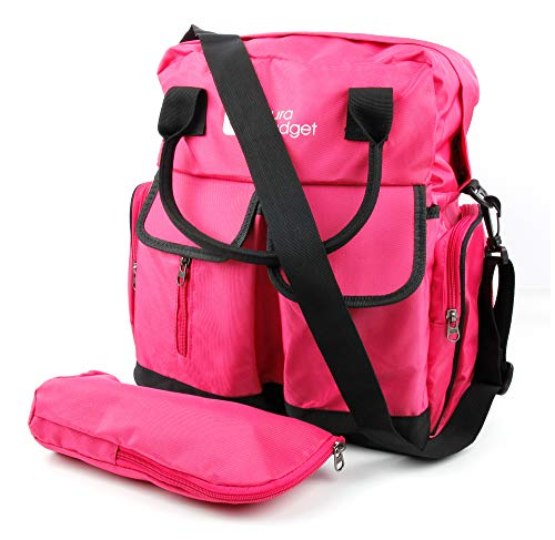 DURAGADGET Beach Backpack/Rucksack (Pink & Orange) with Adjustable Shoulder Strap & Raincover