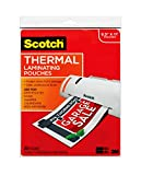 Scotch Thermal Laminating Pouches, 8.9 x 11.4-Inches, 3 mil thick,...