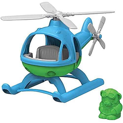 Green Toys Helikopter Spielzeughelikopter Hubschrauber, blau