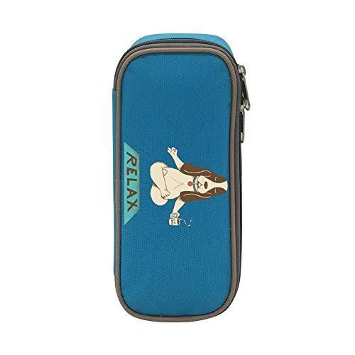 XCNGG Bolsa de papelería estuche estuche para lápices Relax Dog Pen Bag Large Capacity Student Stationery Bag Pencil Case Dual Zippers