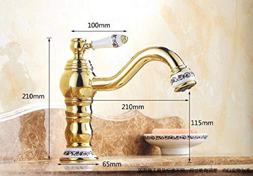 Single Lever New Design wastafelkraan waterkraan enkele hand lange nek keramische wastafel mixer-chroom B. Golden B