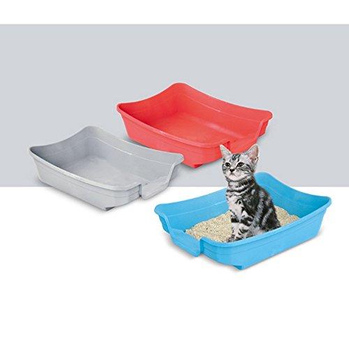 (イマック) Imac ネコちゃん用 ポリー リッタートレイ 猫用トイレ 猫砂入れ ペット用衛生用品 (色はお楽しみ) (ワンサイズ) (アソート)