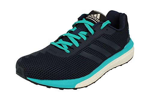 Adidas Vengeful Hombres Running Sneakers (UK 7.5 US 8 EU 41 1/3, Blue White Turquoise BB1633)