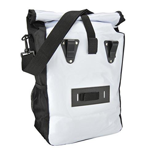 FISCHER Gepäckträger Tasche, weiߟ, 55 x 13 x 25 cm, 18 Liter