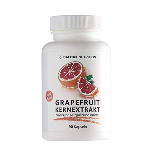 BAFOXX Nutrition® Grapefruitkernextrakt Kapseln hochdosiert - 120 Stück für 4 Monate - Naturprodukt mit 45% Flavonoide aus GKE Extrakt - vegan und ohne Zusatzstoffe - deutsche Markenqualität