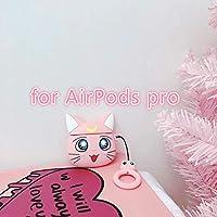 AirPodsケース アップルエアポッドのための日本のアニメ漫画ルナ猫かわいいヘッドフォンケース1 2 Proシリコン素敵な女の子のイヤホンカバー イヤホンアクセサリー (Color : Purple)