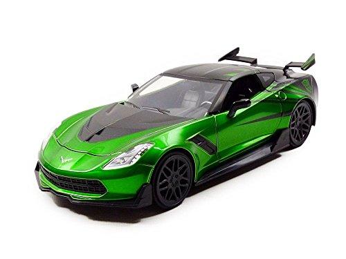 Jada Toys- Corvette Stingray-Transformers 5Crosshairs -1:24, Verde/Negro