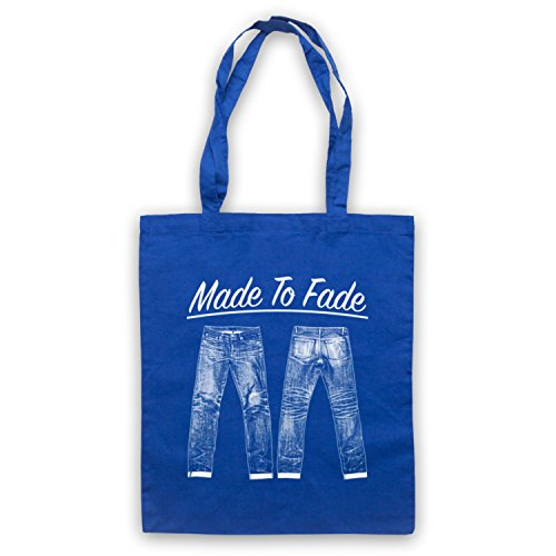 My Icon Art & Clothing Made to Fade Denim Jeans Tote Bag, Blu (Royal Blue), Taglia unica
