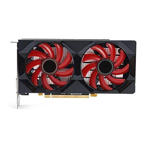 Compatible con tarjetas de vídeo XFX RX 560 de 4 GB, GPU de 128 bits, compatible con tarjetas gráficas AMD Radeon GDDR5 de escritorio de computadora, tarjetas gráficas de videojuegos.