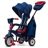 smarTrike Swirl Tricycle 4 en 1 pour bébé, 6502502, Bleu Marine/Rouge