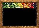 30 Portaprecios cartel porta precios etiquetas de precios PLASTIFICADON para frutas y verduras con impresión SIMILAR pizarra 8,3x11,3 cm + 30 soportes + 1 marcador no tóxico