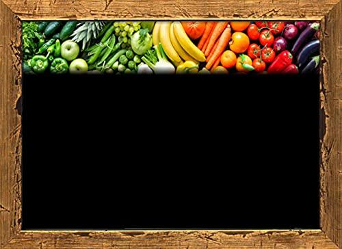 30 Portaprecios cartel porta precios etiquetas de precios PLASTIFICADON para frutas y verduras con impresión SIMILAR pizarra 8,3x11,3 cm (soportes no incluidos)