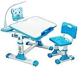 Juego de Escritorio y Silla de Estudio para Niños Escritorio infantil Kids Combinado mesa de estudio y silla Set Niños y Juego de sillas de luz LED Escuela de Escritura del estudiante Escuela de escri