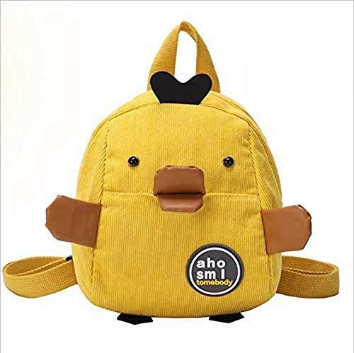 N/A AOLIAY Cartoon Kinderrucksack Schultasche, Gelbe Ente L?ssiger Rucksack, Geeignet f¨¹r Kleinkindmode f¨¹r Erwachsene Einzelprodukttasche (Gelb (Klein))