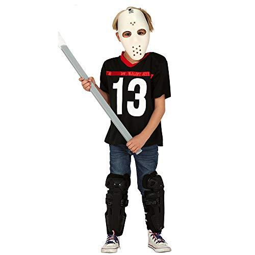 Fiestas Guirca Hockey-Kostüm für Kinder Halloween-Kostüm schwarz-Weiss 122/134 (7-9 Jahre)